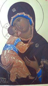 Икона Владимирской Богоматери фрагмент
